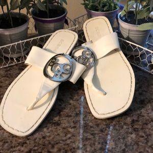 BCBG Sandals, Off White, Size 6.5, GUC